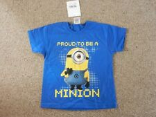 BNWT Fruit Of The Loom Boys Despicable Me Minion Proud T-shirt Age 7-8 Years