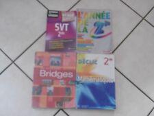 Lot livres manuels scolaires seconde his-géo-anglais-svt-physique chimie