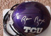 Sammy Baugh autographed signed autograph TCU Horned Frogs Riddell mini helmet