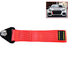 Red Nylon High Strength Racing Tow Strap Set for Front Rear Bumper Towing Hook