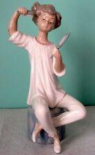 "Lladro ""GIRL WITH BRUSH"" Porcelain Vintage Retired Figurine MINT"