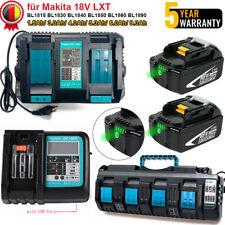 9AH Für Makita Original BL1850B 18V Ersatzakku BL1860B LED Li-ion LXT Ladegerät