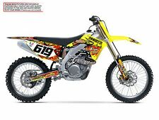 2007 RMZ 450 GRAPHICS KIT SUZUKI RMZ450 DIRT BIKE MOTOCROSS SUPERCROSS DECALS