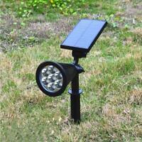 7 LEDs Solar Spotlight Outdoor Flood Light Garden Yard Lawn Wall Lamp Waterproof