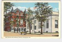PPC POSTCARD INDIANA RICHMOND POST OFFICE AND MASONIC TEMPLE