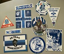 Lot Ultras OM Marseille patchs stickers impréssions plastifiées South Winners