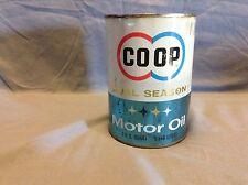 Rare FULL CO-OP 1 quart motor oil tin can; DUAL SEASON, Farmland Industries