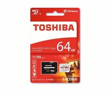 Toshiba 64GB Micro SDXC EXCERIA M302 Memory Card 4k 90MB/sec Class 10 UHS-I U3