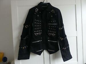 Criminal Damage Mens Jacket Studded Punk Goth Medium M Black