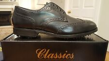 *Vintage* Footjoy Classics Mens Golf Shoes 51235 New Black 12C Made in Usa Mint!