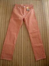 NEW .. LEVI'S 501....Men's  Jenes Straight leg.... 30 x 32 Soft Orange