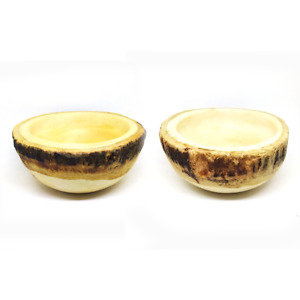 Set 2 pcs dipping soup bowls salad Wooden small sauce dishes plate dinnerware M1