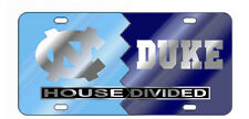 UNC NORTH CAROLINA / DUKE HOUSE DIVIDED License Plate / Car Tag