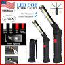 Rechargeable High COB LED Slim Work Light Lamp Flashlight Inspect Folding Torch