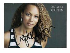 Angela Griffin Coronation Street & Waterloo Road Hand Signed Photo Card 6 x 4