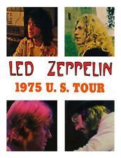 Led Zeppelin **LARGE POSTER** Jimmy Page Robert Plant 1975 US TOUR John Bonham