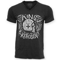 ce3995f7f47 T Shirt King Kerosin Vintage Shirt Skull Motorcycle no Harley V neck