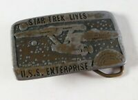 Vintage Tiffany Studio New York Star Trek Lives U.S.S. Enterprise Belt Buckle