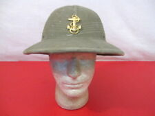 WWII US Navy USN Officer Hawley Tropical Pith or Sun Helmet Complete w/Cap Badge