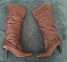 Womens Coconuts Kesha Brown Leather Slouchy Boots Size 8m