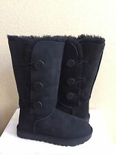 UGG BAILEY BUTTON TRIPLET II TALL BLACK BOOTS US 12 / EU 43 / UK 10.5 - NEW