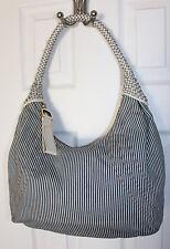 Beautiful FENDI Denim/White Stripe Hobo Spy Bag