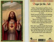 Prayer for Sick and Suffering Card Father Hear Our Prayer Laminated HC9-188E