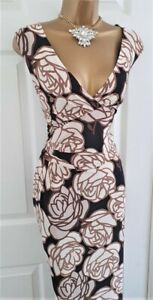 🎀 Phase Eight Floral Dress Party Cocktail Evening Wedding Wiggle Dress 16 £140