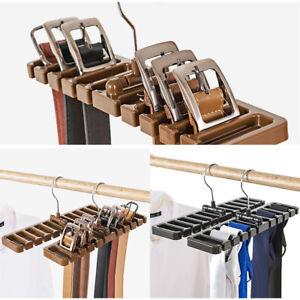 Homewares Belt Hanger Rack Wardrobe Organization Closet Scarf Storage Holder Tie