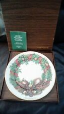 Lenox 1987 Colonial Christmas Wreath Plate Pennsylvania 10 3/4""