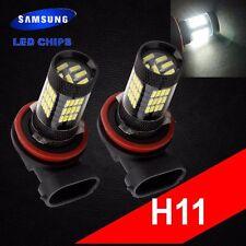 H11 Samsung Chip LED 57 SMD Super White 6000K Headlight 2 x Light Bulb Low Beam