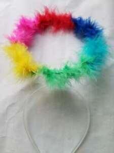 Rainbow Halo Angel Festival Pride LGBT Ladies Fancy Dress Outfit Accessory