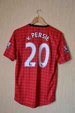 MANCHESTER UNITED AON 2012-2013 HOME FOOTBALL SHIRT JERSEY NIKE #20 v. Persie