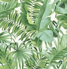FD24136 - Solstice Tropical Leaf Green Fine Decor Wallpaper