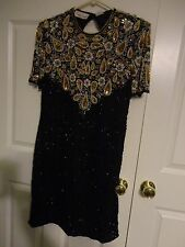 LAURENCE KAZAR NEW YORK WOMEN'S EVENING DRESS BEADED SEQUINED SIZE XL