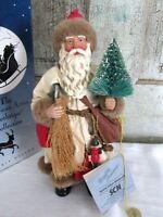 Clothtique POSSIBLE DREAMS Christmas Caller Santa Claus w Tree & Bag in box