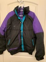 Vtg Columbia Powder Keg 80s 90s 3-in-1 Jacket Reversible Liner Mens Size Large