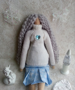 Handmade Doll. Tilda Doll. Winter Tilda Doll.
