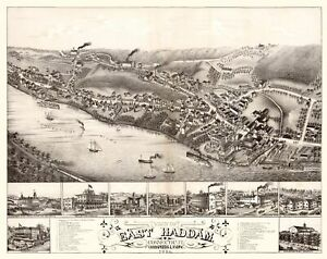 East Haddam Connecticut - Bailey 1880 - 23.00 x 29.04