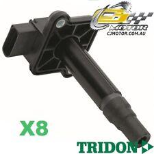 TRIDON IGNITION COIL x8 FOR Audi  A8 01/99-12/02, V8, 4.2L AQF