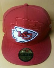 Kansas City Chiefs Sideline Cap New Era 59FIFTY Fitted SIZE 7-1/8 On-Field Hat