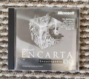 MICROSOFT ENCARTA ENCYCLOPEDIA 99 CD-ROM for Windows 95, 98. Excellent Condition
