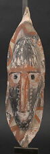 RED WHITE AND BLACK ANCESTOR SPIRIT FACE ABELAM REGION   PAPUA NEW GUINEA