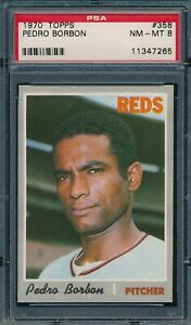 1970 Topps Set Break # 358 Pedro Borbon PSA 8 *OBGcards*