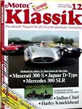 MOTOR KLASSIK 12-86 MASERATI 300+MERCEDES 300 SLR+JAGUAR D+INDIAN+HARLEY FL+USA