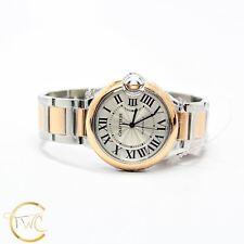 Cartier Ballon Bleu 36MM Stainless Steel 18K Rose Gold Ref W2BB0003