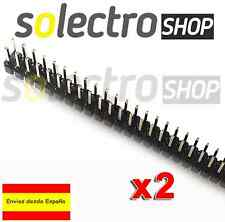 2x TIRA DOBLE 80 PINES MACHO 2x40 double row male soldar Arduino pin header PCB