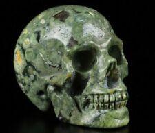 "2.0"" RAINFOREST JASPER Carved Crystal Skull, Realistic, Crystal Healing"