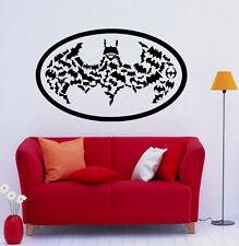 Batman Wall Vinyl Decals Dark Knight Sticker Comics Art Removable Decor (33jbat)