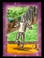 """Wizard of Oz Sketch Card by Chris Henderson Color """"Tin Man"""" Breygent 2006"""